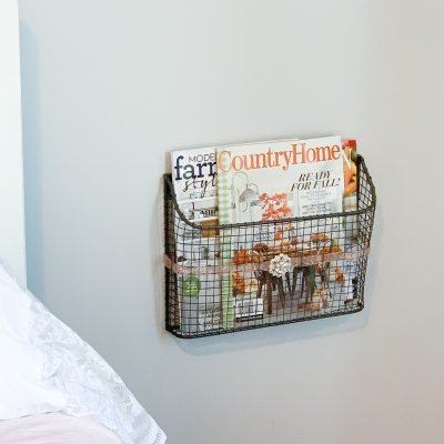 How To Dress Up A Mesh Wall Mounted Magazine Holder
