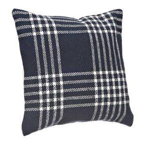 Blue Plaid Open Pillow