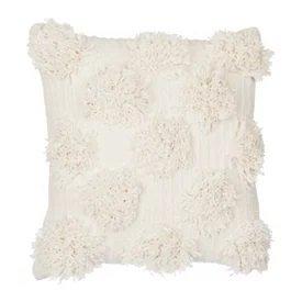 Ivory Shaggy Dot Pillow