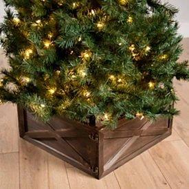 Natural Wood Box Tree Collar