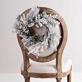 White Frosted Pine Cone Mini Wreath