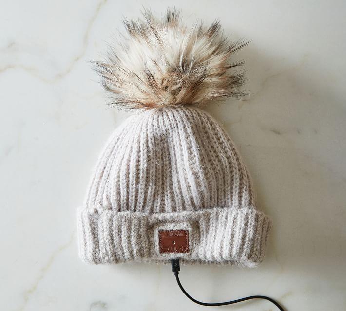 Wireless Bluetooth Knit Pom Pom Beanie