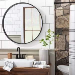 Round Framed Mirror - Hearth & Hand™ with Magnolia