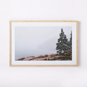 36 x 24 Whitewash Foggy Seaside Framed Wall Art by Studio McGee