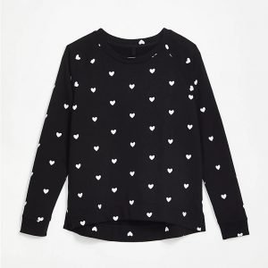 Lou & Grey Heart Terry Sweatshirt