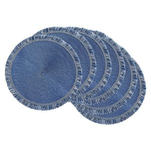 Round Fringed Placemat Set of 6