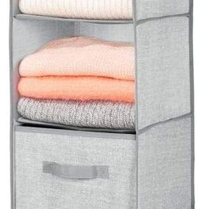 mDesign Long Soft Fabric Over the Closet Rod Hanging Storage Organizer