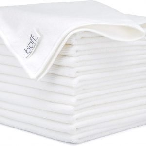 Buss Microfiber Cleaning Cloth White 12 PK