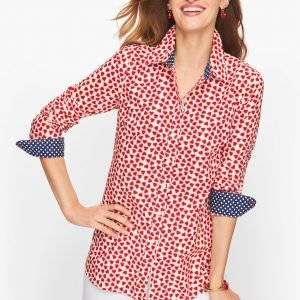 Classic Cotton Shirt - Dotted Hearts