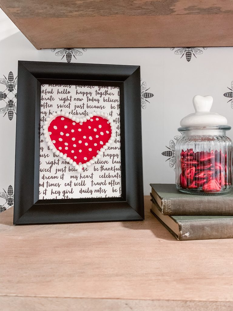 Framed Valentine Art Craft Project