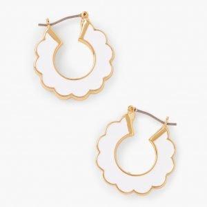 Scalloped Enamel Hoop Earrings
