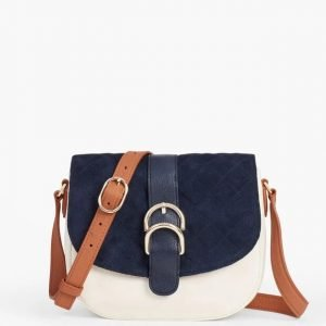 Soft Pebbled Leather Saddle Bag