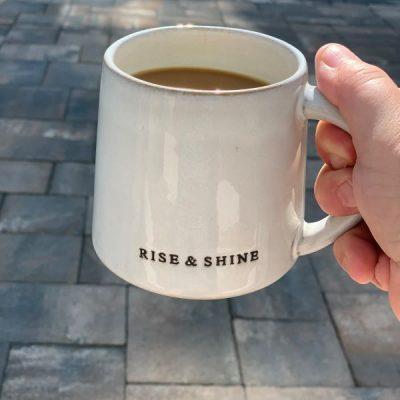 Saturday Morning Coffee Talk – New Patio