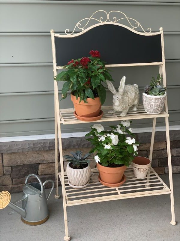 SAFAVIEH Outdoor Living Natum Victorian Iron 2-Tier Plant Stand.jpeg