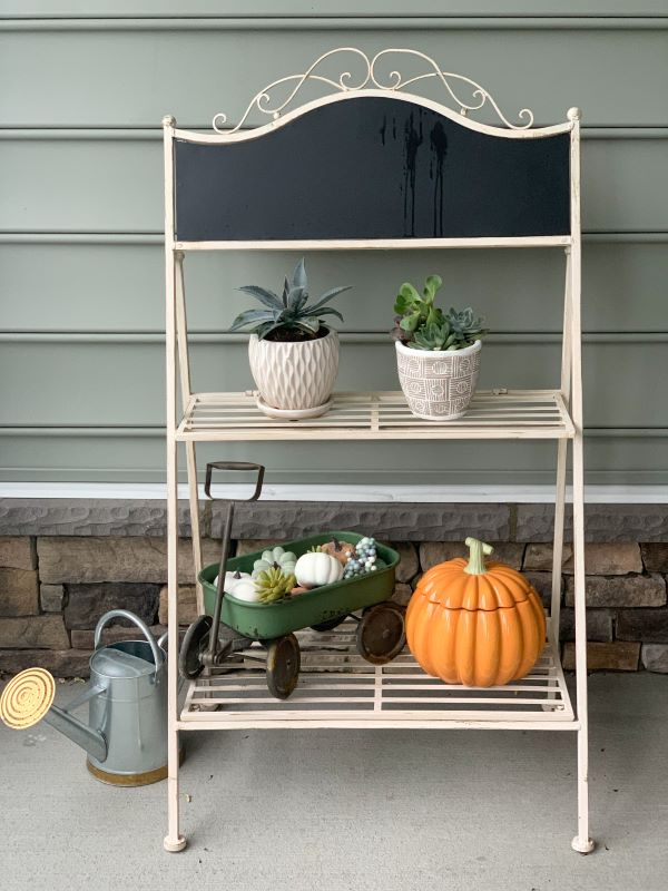 Plant Stand decorated for the fall