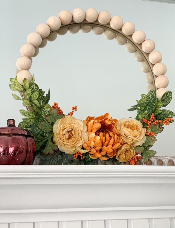 Wood Bead and Flower Wreath 2.jpeg