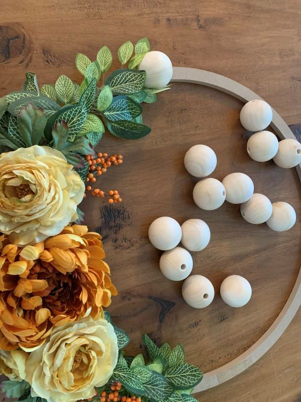 Wood Bead and Flower Wreath - Adding Wooden Beads 2.jpeg